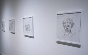 Vista de la exposición ʻNovas Bleeda' Glauber Ballestero galería Acacia 2020 2 | Rialta
