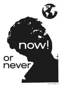 Now Annick Woungly Carteles por el futuro now or never | Rialta