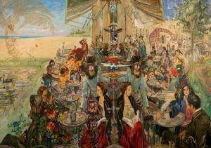 Miguel Alejandro Machado. Diciembre la evolutión de las especies 2019. Oil on canvas 200 x 280 cm | Rialta