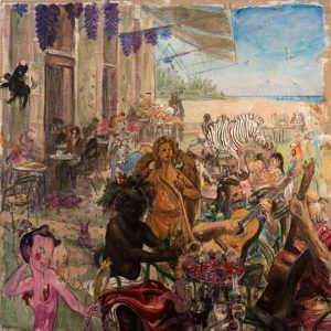 Miguel Alejandro Machado. Octubre Dionisio 2019 Oil on canvas 200 x 200 cm | Rialta