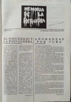Portada del número de Memorias de la posguerra donde apareció el texto | Rialta