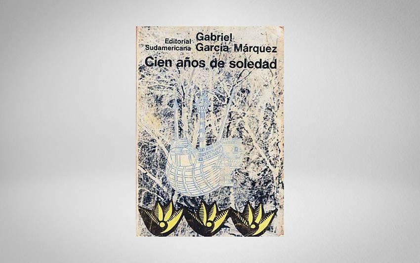Cubierta de la primera edición de 'Cien años de soledad' (Sudamericana, 1967).