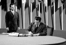 El embajador Dr. Guillermo Belt Ramírez firma la Carta de las Naciones Unidas en 1945 como jefe de la Delegación de Cuba en la Conferencia de San Francisco.