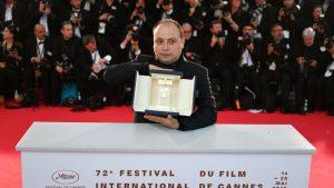 El cineasta César Díaz durante el Festival de Cannes en 2019