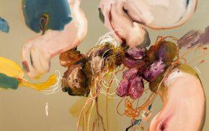 Detalle de 'Plátano con atún'; 120 x 130 cm, 2021; Ángel R. Ricardo Ríos (Imagen: Residency Unlimited)