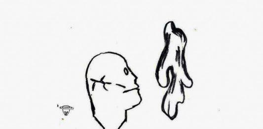 Detalle de cubierta del primer número de 'Parva Forma. Revista Inactual de Arte y Literatura'; ilustración de Ezequiel O. Suárez