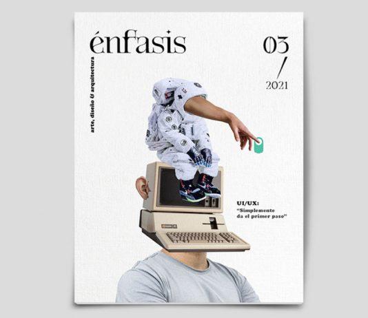 Portada del número tres de 'Énfasis', revista cubana sobre arte, diseño y arquitectura