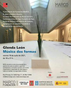 Cartel de la exposición 'Música de las formas', de Glenda León.