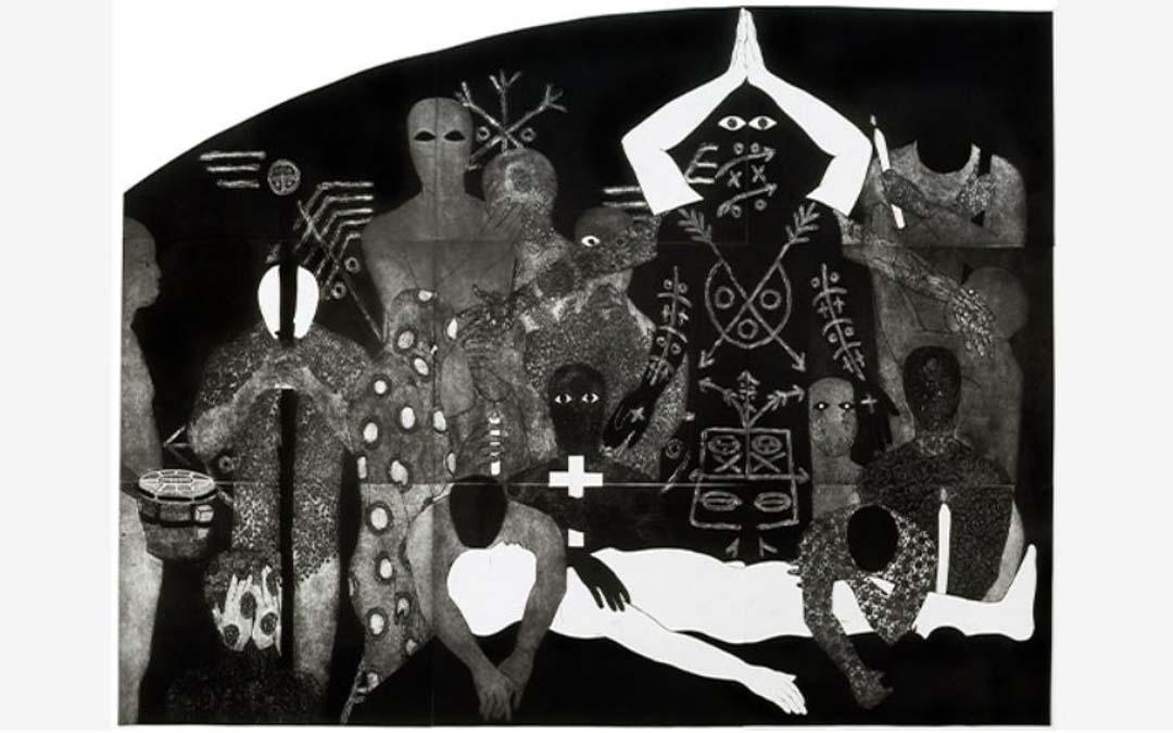 'Nlloro', Belkis Ayón, 1991. Colografía sobre papel, La Habana, Cuba. BELKIS AYÓN ESTATE