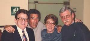 De izquierda a derecha Heberto Padilla, Annabelle Rodríguez, Guillermo Rodríguez Rivera y Jesús Díaz