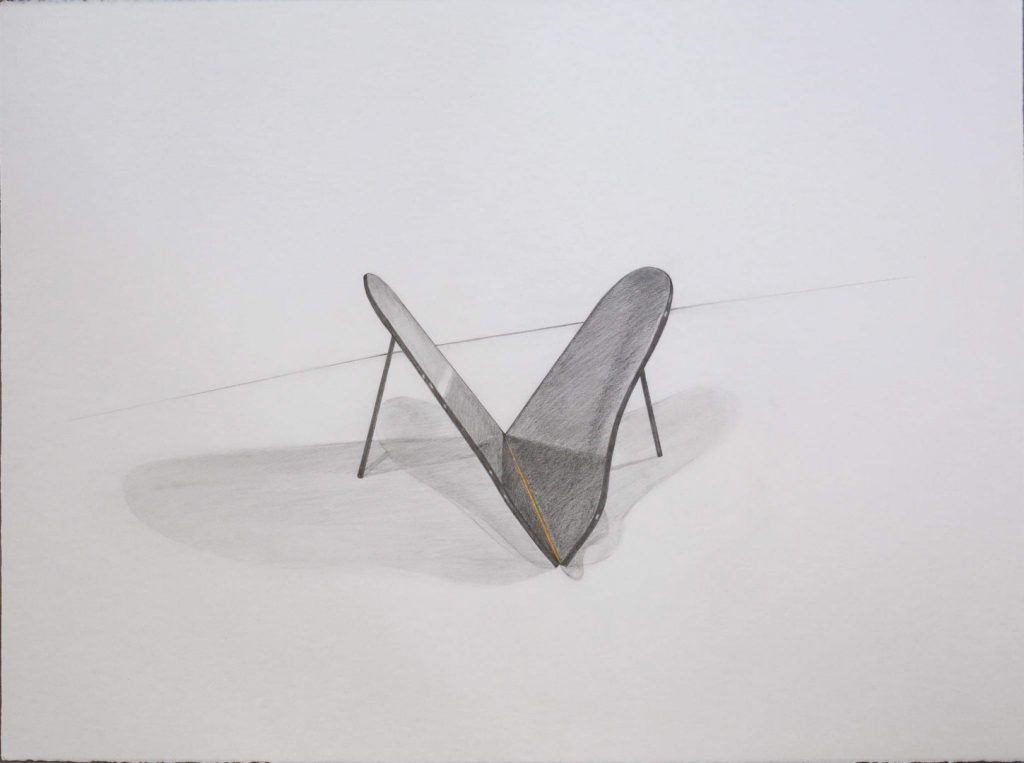 'Dibujo Iluminado: Metamorfosis', grafito y acrílico sobre papel Arche 300g, 56 x 76 cm, Glenda León & David Beltrán, 2021