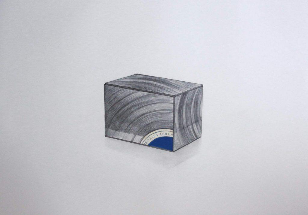 'Dibujo Iluminado: Caja de Música', grafito y acrílico sobre papel arche 300g, 56 x 76 cm; Glenda León & David Beltrán, 2021