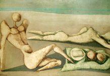 'La playa', Bahman Mohasses (1966), una de las obras incluidas en la exposición