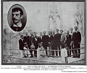 Peregrinación a la tumba de Casal en el aniversario 14 de su muerte (Blog Hotel Telégrafo)