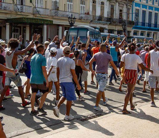 Protestas del 11 de julio de 2021 en La Habana.