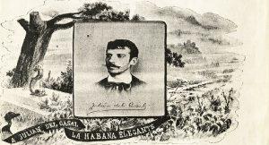 Viñeta con un retrato de Julián del Casal