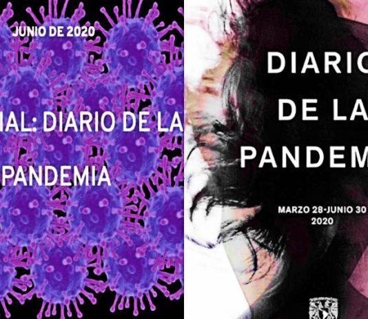 Portada de la edición especial 'Diario de la pandemia'; 'Revista de la Universidad de México', junio de 2020 / Portada del libro 'Diario de la pandemia'; UNAM (DGPFE), 2020