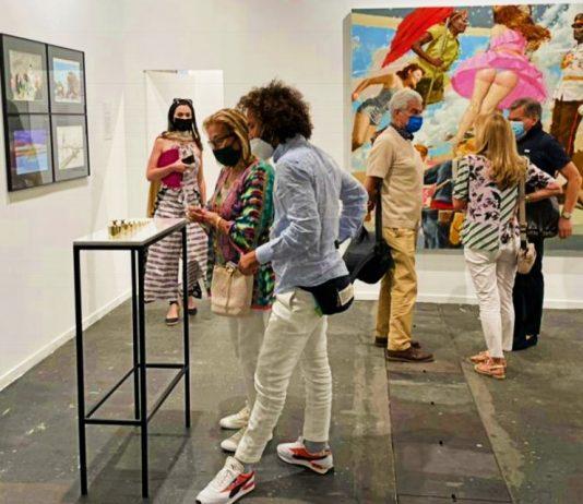 Stand de la galería cubana El Apartamento en ARCOmadrid 2021 (Foto: Cortesía de El Apartamento)