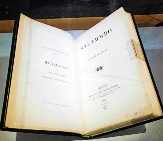 Edición original de la novela 'Salambó', de Gustave Flaubert (© Fabien Massin/76actu)