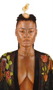 'Africa', Ariel Vargassal, acrílico sobre lienzo