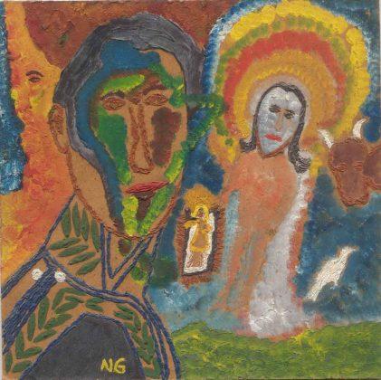 'Bolívar', Noel Guzmán Boffill, óleo sobre masonita, circa 1989