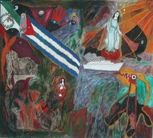 'Era la mañana de la Santa Ana', Noel Guzmán Boffill, acrílico sobre tela, circa 1987-1988