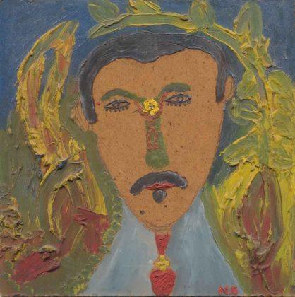 'Martí', Noel Guzmán Boffill, óleo sobre masonita, circa 1989
