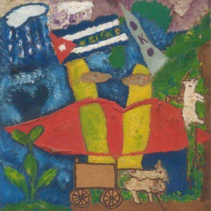 'Orisha Oko', Noel Guzmán Boffill, óleo sobre masonita, 1988