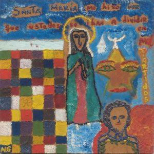 'Santa María me hizo ver que ustedes se iban a dividir en mil partidos', Noel Guzmán Boffill, óleo sobre masonita, circa 1989
