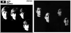 Portada del album Whit the Beatles y fotograma de La Jetee | Rialta