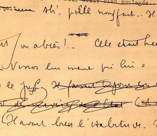 Detalle de manuscrito de Louis-Ferdinand Céline (Foto: 'Le Monde')