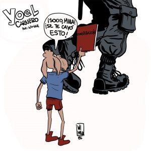 Una de las viñetas de la serie 'Yoel Carnero' de Wimar Verdecia (imagen tomada del perfil de Facebook del autor)