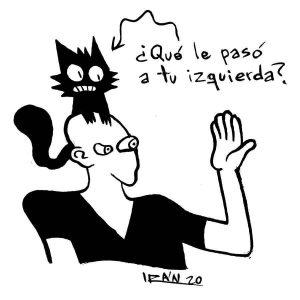 Una de las viñetas de la serie 'Hablando con gato', de Irán Hernández (imagen tomada del perfil de Facebook del autor)