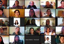 Sesión virtual de la Red LATAM de Jóvenes Periodistas / Imagen: Tomada de ʻDistintas Latitudes'