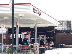 Una gasolinera en Minneapolis (FOTO Yansi Pérez)